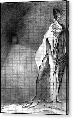 Canvas Print featuring the drawing . by James Lanigan Thompson MFA