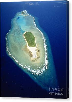 Losiep Atoll Canvas Print by Mitch Warner - Printscapes