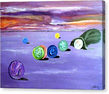 Losing My Marbles Canvas Print by  Laurie Homan
