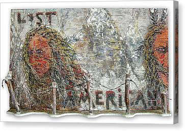 Lost Americans At Wounded Knee Canvas Print by Tony A Blue