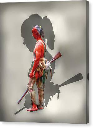 Lost Cause Seneca Warrior Ver 2 Canvas Print by Randy Steele