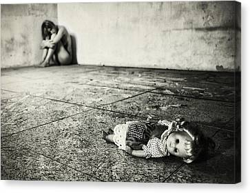 Lost Doll Canvas Print by Stefano Miserini