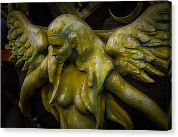 Lost Golden Angel Canvas Print by Garry Gay