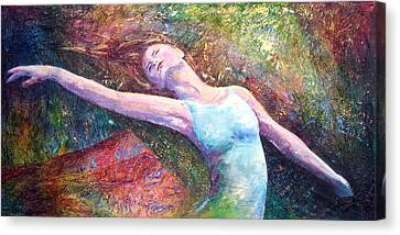 Lost In Dance  Canvas Print by David  Maynard