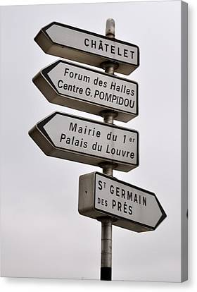 Lost In Paris Canvas Print by Caroline Reyes-Loughrey