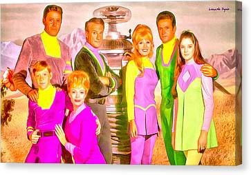 Lost In Space Team - Da Canvas Print by Leonardo Digenio