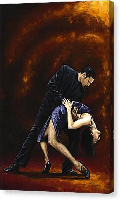 Lost In Tango Canvas Print by Richard Young