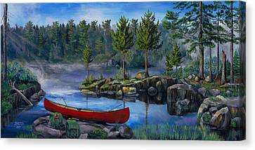 Lost In The Boundary Waters Canvas Print