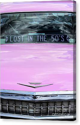 Canvas Print featuring the photograph Lost In The Fifties by Tim Gainey