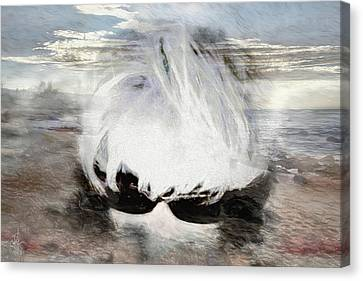 Canvas Print featuring the photograph Lost In Thought by Pennie  McCracken