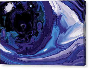 Canvas Print featuring the digital art Lost-in-to-the-eye by Rabi Khan