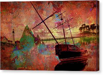 Canvas Print featuring the digital art Lost Island by Greg Sharpe