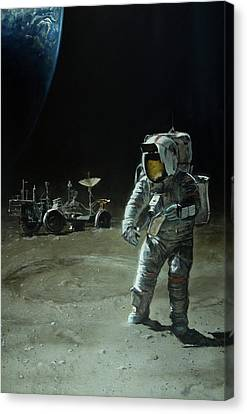 Lost Moon Canvas Print by Simon Kregar