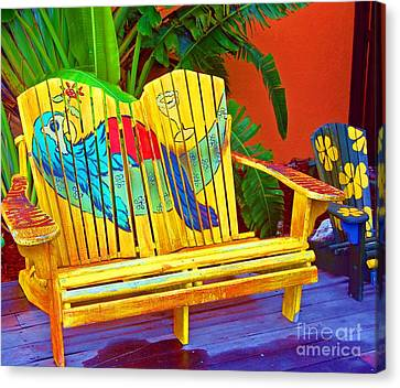 Parrots Canvas Print - Lost Shaker Of Salt 2 by Debbi Granruth