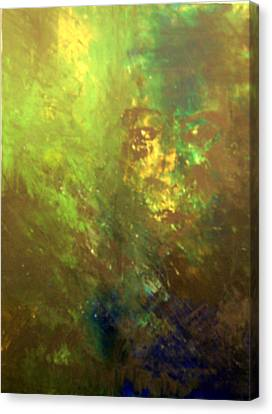 Lost Soul Or In The Garden Canvas Print by DeLa Hayes Coward