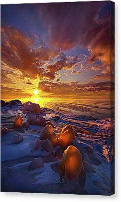 Canvas Print featuring the photograph Lost Titles, Forgotten Rhymes by Phil Koch