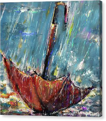 Lost Umbrella Canvas Print by Mark Tonelli