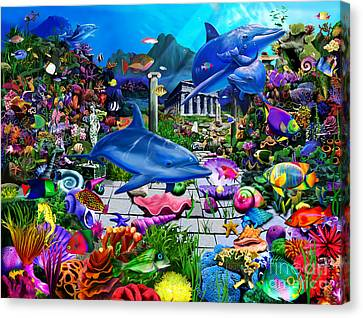 Lost Undersea World Canvas Print by Gerald Newton