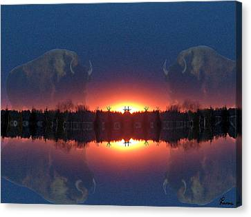 Lost World Reflections Canvas Print by Andrea Lawrence