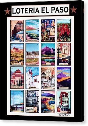 Loteria El Paso Canvas Print