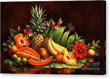 Food Store Canvas Print - Lots Of Fruit by Laurie Hein