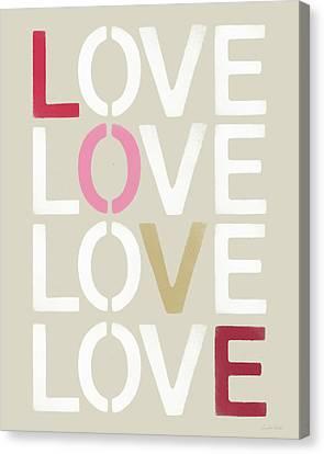 Lots Of Love- Art By Linda Woods Canvas Print by Linda Woods
