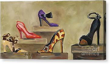 Lots Of Shoes Canvas Print