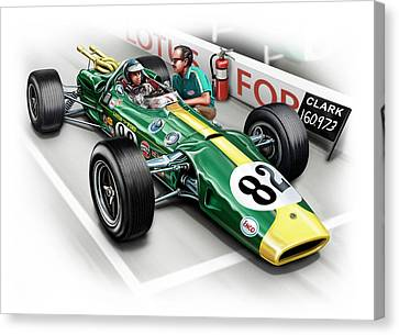 Lotus 38 Indy 500 Winner 1965 Canvas Print by David Kyte