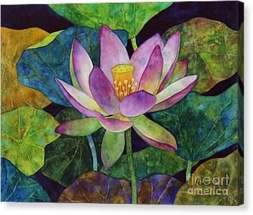 Lotus Bloom Canvas Print by Hailey E Herrera