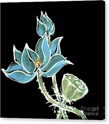 Lotus-blue Canvas Print