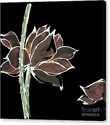 Lotus-brown Canvas Print