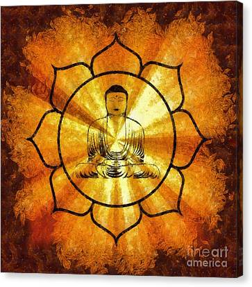 Lotus Buddha By Sarah Kirk Canvas Print by Sarah Kirk