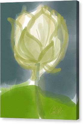 Indian Ink Canvas Print - Lotus by Carl Griffasi
