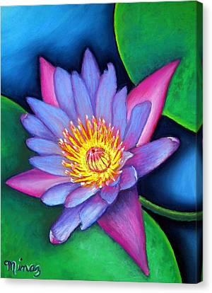 Lotus Divine Canvas Print by Minaz Jantz