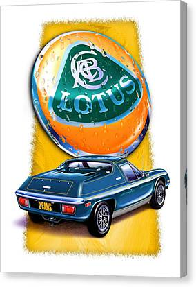 Lotus Europa Blue Canvas Print by David Kyte