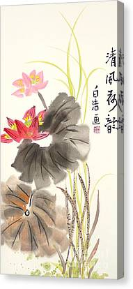 Lotus Flower Canvas Print by Birgit Moldenhauer