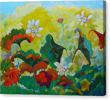 Lotus In The Fall Canvas Print by Tung Nguyen Hoang