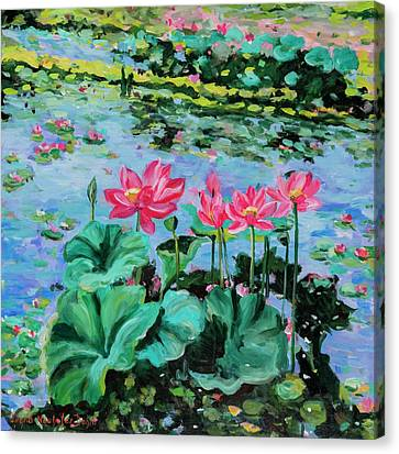 Lotus Canvas Print by Alexandra Maria Ethlyn Cheshire