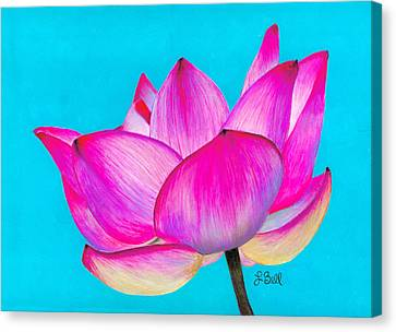 Canvas Print featuring the painting Lotus  by Laura Bell