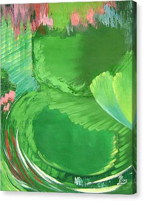 Lotus Leaves Canvas Print by Lian Zhen