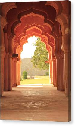 Lotus Mahal Canvas Print