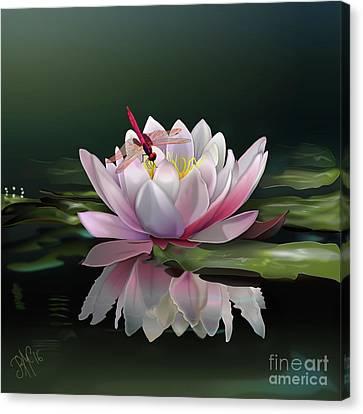 Lotus Meditation Canvas Print by Rosa Cobos