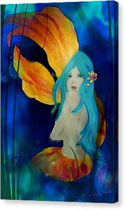 Lotus Mermaid  Canvas Print