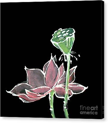 Lotus-pink Canvas Print