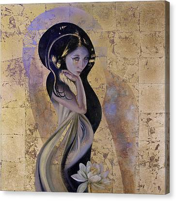 Canvas Print featuring the painting Lotus by Ragen Mendenhall