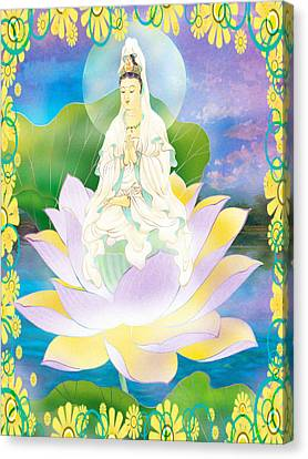 Lotus-sitting Avalokitesvara 1 Canvas Print