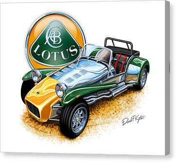 Lotus Super Seven Sports Car Canvas Print by David Kyte