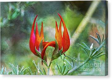 Canvas Print featuring the photograph Lotus Vine Flower Texture by Michael Moriarty