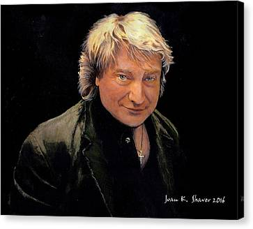 Lou Gramm -original Voice Of Foreigner Canvas Print by Joan Shaver
