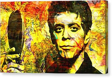 Lou Reed Canvas Print by Dan Sproul